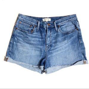 Madewell High Waisted Denim Shorts   Size 31